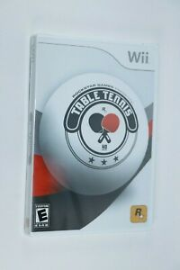 NINTENDO WII ROCKSTAR GAMES TABLE TENNIS NEW FACTORY SEALED SHIPS SAME DAY