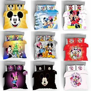 Mickey and Minnie Mouse Collection Single/Double/Queen/King Bed Quilt Cover Set