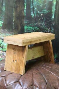 Handmade, reclaimed wooden step stool - 20cm high x 30cm long x 15cm wide