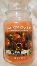 Yankee Candle CITRUS SPICE Large Jar 22 Oz New Housewarmer Orange Fall Fruit