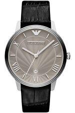 Emporio Armani EA7 Men's Grey Dial Leather Strap Watch AR1612 - 2 Years Warranty