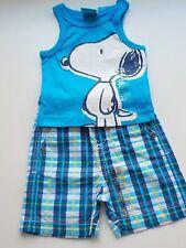 Ensemble garçon 3 m Z génération Grain de blé 2 pièces t shirt Snoopy/bermuda