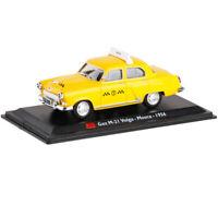 1:43 Vintage Gaz M-21 Volga 1956 Moscow Taxi Cab Model Car Diecast Collection