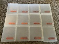 Nintendo Nes Original Clear Clamshell Game Cases Lot of 12