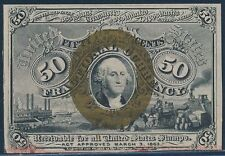 Fr1316 50¢ Choice Cu 2Nd Issue Fractional W/O Small Surcharges On Reverse Bt704