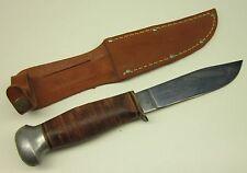 Unused Vintage PAL USA RH-50 Hunting Knife & Leather Sheath