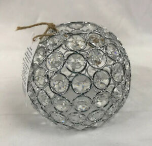"""Style Selections Chrome Crystal Globe Light Shade 4"""" H New w/ Tag"""