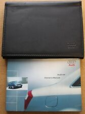 GENUINE AUDI A4 B6  HANDBOOK OWNERS MANUAL WALLET 2000-2004 PACK 10319