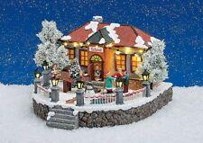 Spieluhr Winterszene Schule Winter Weihnachten mit Beleuchtung und Musik 16193