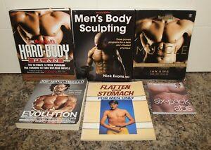6 Men's Body Sculpting Books - Evolution Joe Manganiello Hard Body Plan Muscle +