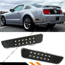 FOR 05-09 FORD MUSTANG BLK REAR BUMPER SIDE MARKER REFLECTOR SMD LED LAMPS LIGHT