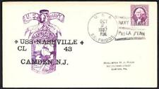 WWII Cruiser USS NASHVILLE CL-43 LAUNCHING 1937 Naval Cover (4706z)