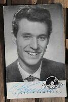 1989 Autografo Cartolina Silvio Francesco Polydor 50er Anni Autografata