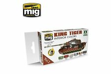 AMMO OF MIG A.MIG-7165 King Tiger Interior Color Takom Edition Vol.1 6x17ml