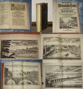 HISTORISCHER SCHAUPLATZ MERKWÜRDIGSTE BRÜCKEN 1735 FOLIO 30 GROSSE KUPFERTAFELN