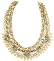 Stella & Dot Sutton Statement 5 in 1 Adjustable Necklace Gold Rhinestone