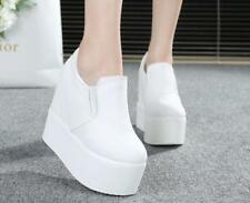 Womens Lady Platform Wedge Heel Ankle Boots Shoes Sneakers Stylish Canvas New