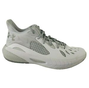 HOVR Havoc 3 Basketball Shoes Under Armour Mens Size 10 White and Gray - NEW
