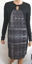 NWOT Authentic SILENT DAMIR DOMA DUGIS Black Gray Insert Dress XS