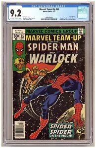 Marvel Team-Up 55 (CGC 9.2) Spider-Man Adam Warlock 1st Gardener Newsstand B965