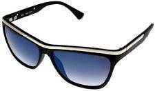 Police Sunglasses Womens Black Rectangular S1809 U28X