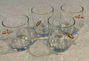 4 Whiskey Glasses with Bullet
