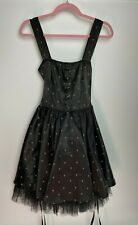 Hell Bunny Ladies Dress Size L Black Metal Goth Steam Punk Party Evening Summer