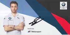 Philipp Eng Hand Signed BMW Racing 2018 Le Mans Promo Card.
