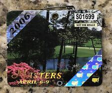 2006 MASTERS AUGUSTA NATIONAL GOLF CLUB BADGE TICKET PHIL MICKELSON WINS PGA