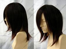 New Men Medium Brown Straight Hair Male Fashion Cosplay Party Synthetic Full Wig