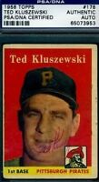 Ted Kluszewski Signed Psa/dna 1958 Topps Autograph Authentic