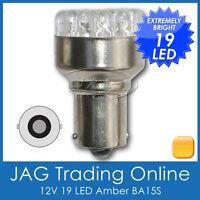 12V 19-LED BA15S 1156 AMBER INDICATOR AUTOMOTIVE GLOBE-Orange Blinker Light Bulb
