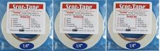 "Sookwang Scor-Tape THREE Roll Lot 1/4"" x 27 yards Double-sided Tape"