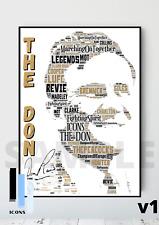 More details for the 'don' revie leeds legend tribute a4/a3 print / framed lufc memorabilia #172