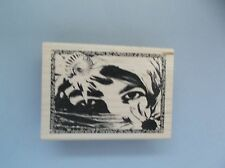 INKADINKADO RUBBER STAMPS LADIES FACE COLLAGE NEW STAMP