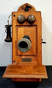 Antique Kellogg Switchboard & Supply Wall Telephone 270996-L patent 11-26-1901
