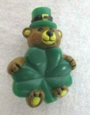 St. Patrick`S Day Teddy Bear Pin Hard Plastic