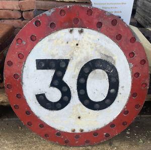 Reflective Vintage 30 MPH Road Sign