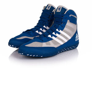 Adidas Mat Wizard 3 Wrestling Shoes Blue & White Boots Trainers Pumps