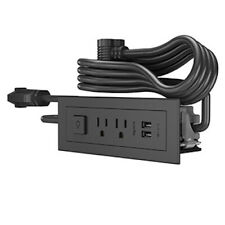 FURNITURE POWER 2-OUTLET WITH SWITCHING AND USB-A UNIT 10' CORD BLACK wiremold
