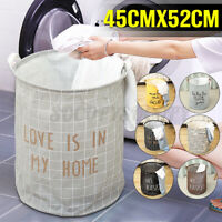 Foldable Dirty Clothes Storage Bag Laundry Basket Hamper Washing Bin Home US