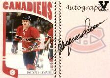 04-05 itg franchises vault jacques lemaire montreal canadiens autograph auto