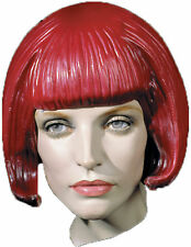 Beebop Rubber Bob Cut Bangs Latex Red Women's Short Wig Distortions