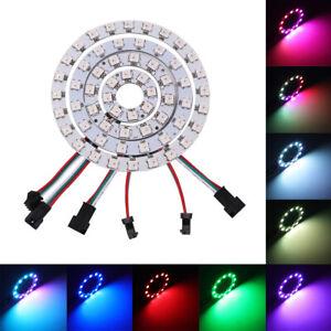 WS2812 SK6812 5050 RGB LED 1 8 12 16 24 32 Bits Ring Lamp Light Addressable 5V