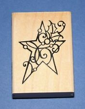 """Stampendous """"HOLLY STAR"""" Christmas Rubber Stamp"""