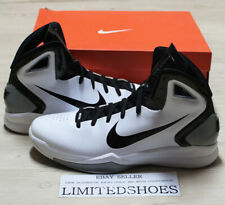 NIKE HYPERDUNK 2010 TB WHITE BLACK METALLIC SILVER 407627-101 2011 2014 red blue