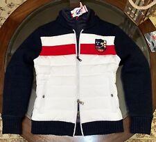 Ralph Lauren Gent's Size Small Wool Alpaca & White Duck Down Quilted Jacket Navy