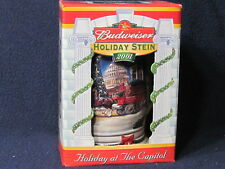 "2001 Anheuser-Busch Holiday Christmas Stein w/ Box ""Holiday at the Capitol"""