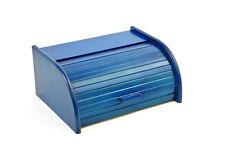 PORTA PANE blu con rollklappe 40cm faggio Portapane Contenitore per il