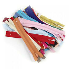 50pcs 7-inch /18cm Durable Nylon Closed End Zips Zippers for Sewing Random Color